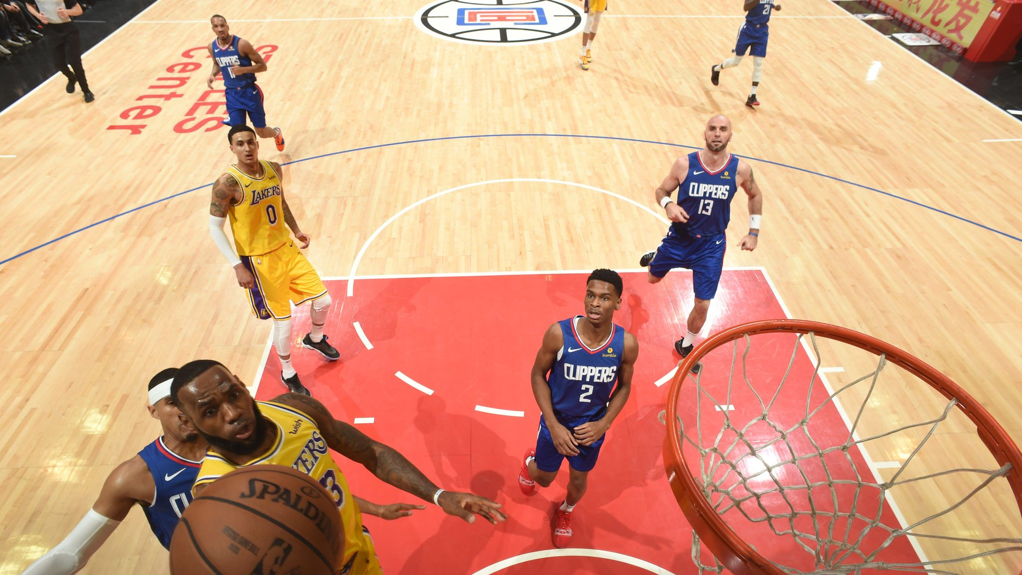 55a56c2295b LeBron James returns after 17-game absence to lead Los Angeles Lakers to overtime  win over Los Angeles Clippers