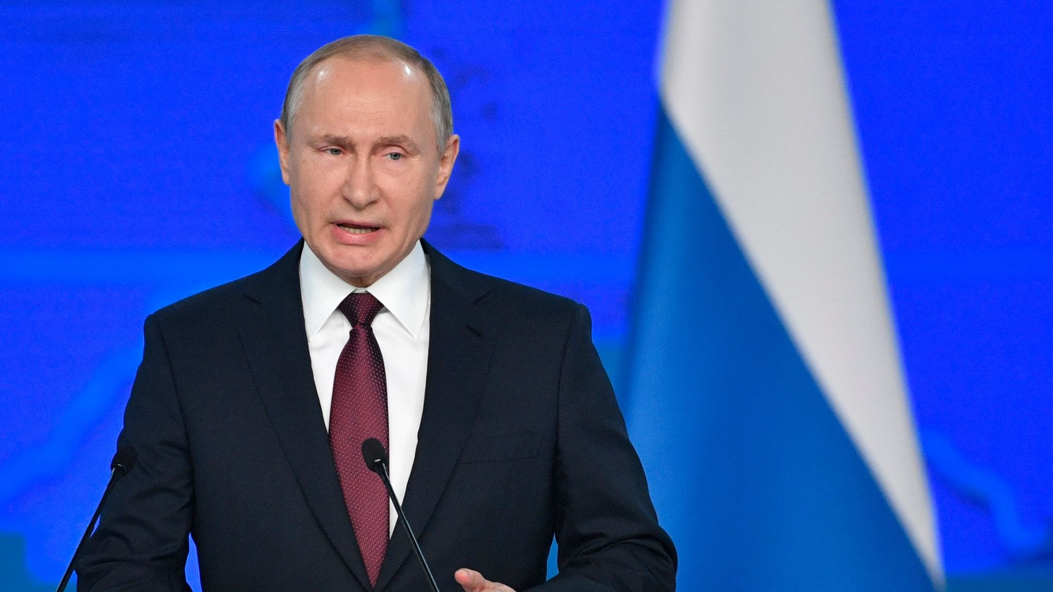 Vladimir Putin Warns Of Russian Retaliation If Us Places Missiles In Europe World News Sky News