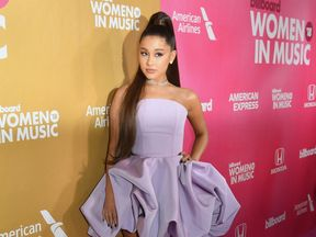 Ariana Grande attends Billboard's 13th Annual Women In Music event at Pier 36 in New York City on on December 6, 2018