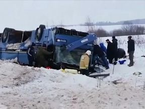 Four children were among seven who died in the bus crash
