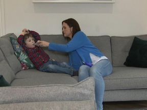 Claire Wilson whose four year old son Rufus has Cystic Fibrois.