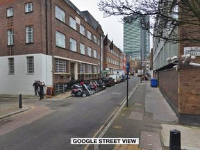 The man was pronounced dead at the scene on Euston Street in London