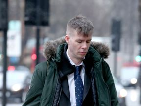 George Mason who admitted outraging public decency at Waterloo underground station on February 19, 2018, arrives at Westminster Magistrates' Court, for sentencing. PRESS ASSOCIATION Photo. Issue date: Friday February 1, 2019. See PA story COURTS Waterloo. Photo credit should read: Yui Mok/PA Wire