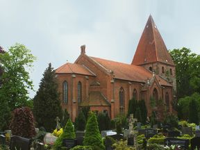 St Mary's Church in Hilgermissen, which asks people to rely on landmarks rather than street names to get around