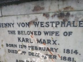 It appears the memorial was attacked with a hammer. Pic: Friends of Highgate Cemetery Trust
