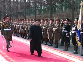 Kim Jong Un inspects his armed forces