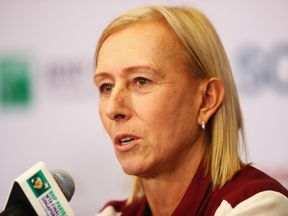 """Navratilova previously said """"having a penis and competing as a woman' does not fit the standard for competing in women's sport"""
