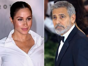 Meghan Duchess of Sussex and George Clooney