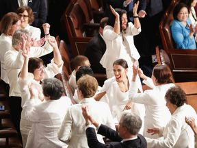 Democratic women wore white at the State of the Union speech