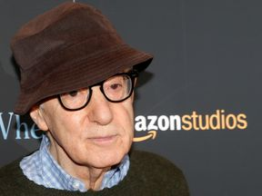 "Woody Allen at a screening of the film ""Wonder Wheel"", one of the movies  he made under his deal with Amazon"