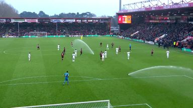 Sprinklers stop play at Bournemouth!