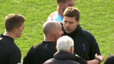 Poch confronts referee Dean