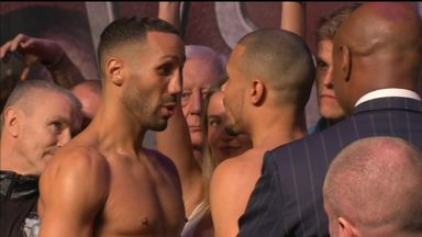 DeGale weighs in lighter than Eubank Jr