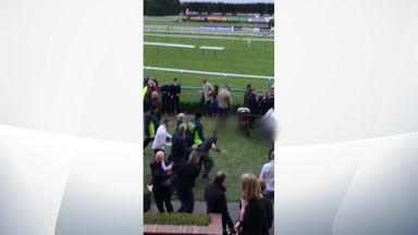 Brawl breaks out at Haydock Park