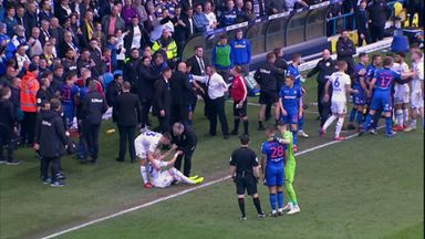 Magennis sparks mass brawl at Leeds