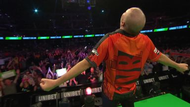 Barney salutes Glasgow crowd