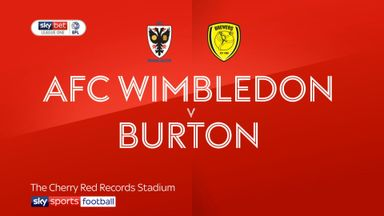AFC Wimbledon 0-2 Burton