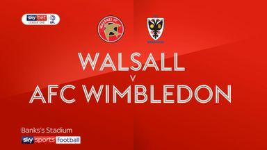 Walsall 0-1 AFC Wimbledon