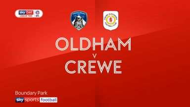 Oldham 1-1 Crewe