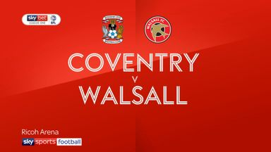 Coventry 3-0 Walsall