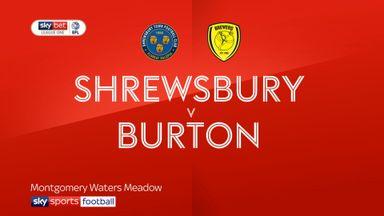 Shrewsbury 1-1 Burton