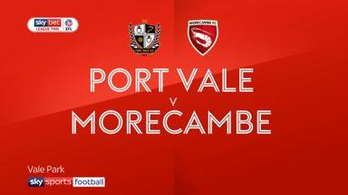 Port Vale 0-1 Morecambe