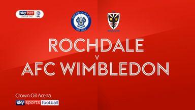 Rochdale 3-4 AFC Wimbledon