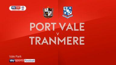 Port Vale 1-2 Tranmere