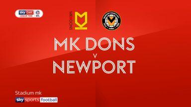 MK Dons 2-0 Newport