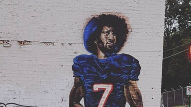 Kaepernick mural in Atlanta destroyed