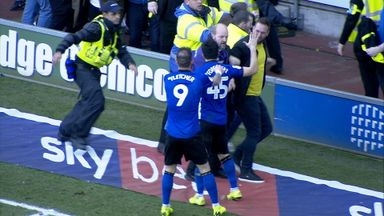 Forestieri sent off after high-fiving fan!