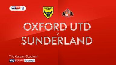Oxford 1-1 Sunderland