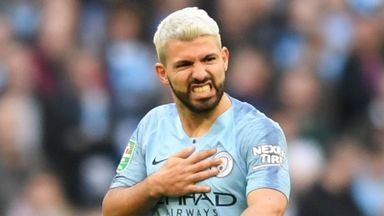 Aguero floored after two seconds!