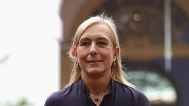 Martin saddened by Navratilova comments