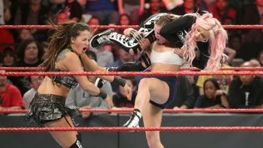 Rousey battles the Riott Squad