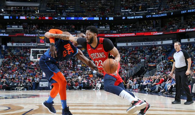 New Orleans Pelicans lose Anthony Davis to injury but rally to beat Oklahoma City Thunder