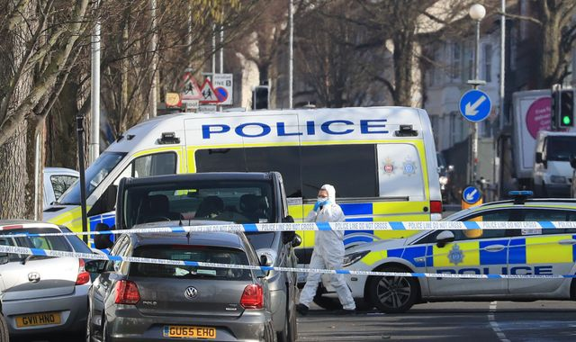 Man held after brother of Islamist fighters stabbed to death in Brighton
