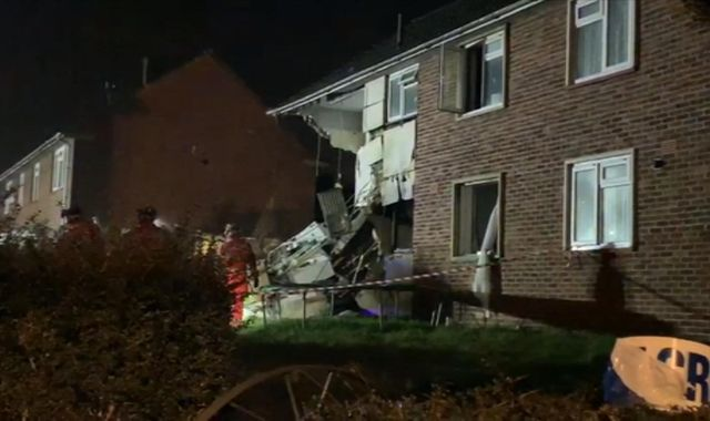 Reports of explosion in Bristol as three people hurt in house fire
