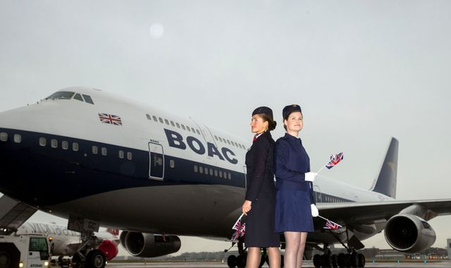 British Airways repaints plane with retro design not seen for 40 years