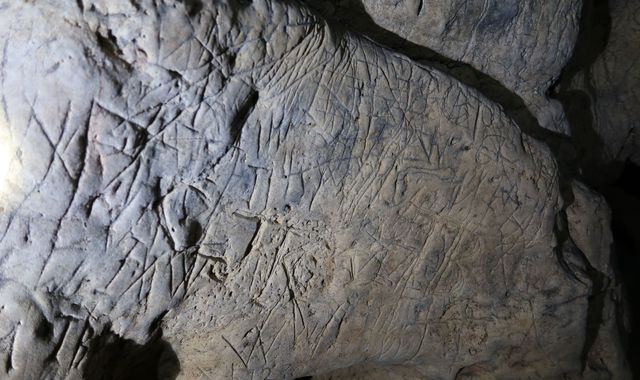 Hundreds of 'witches' marks' - including entrance to 'hell' - found in caves at Creswell Crags