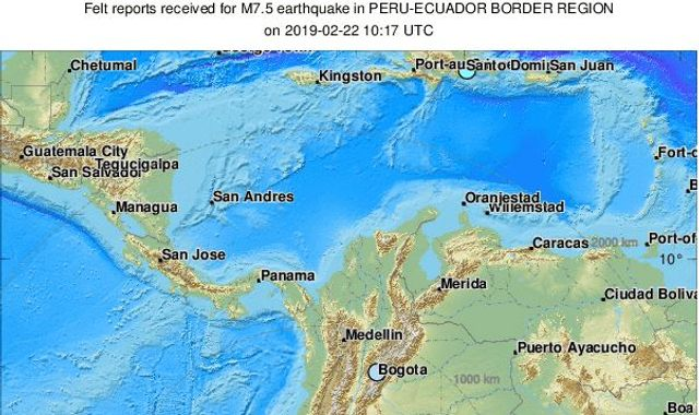Powerful 7.5 magnitude earthquake hits Peru-Ecuador border region