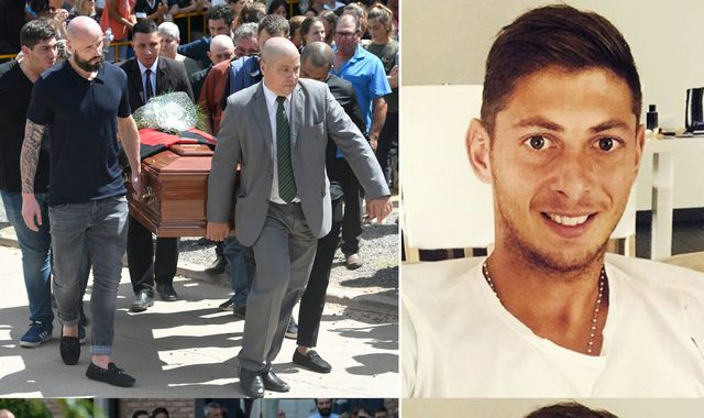 Emiliano Sala: Applause as footballer's coffin taken from his boyhood club