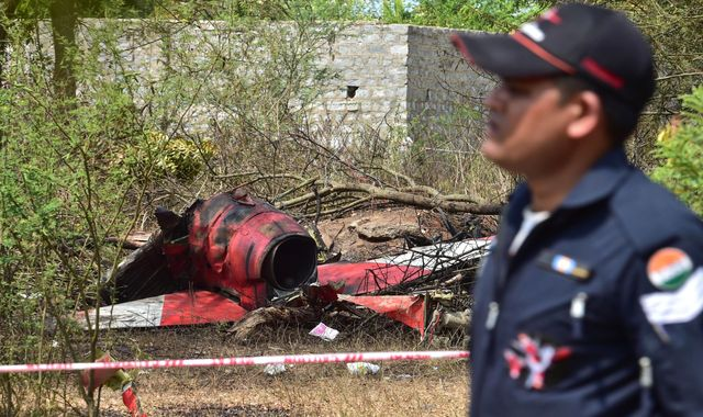 Pilot killed after India Air Force jets collide during show rehearsal