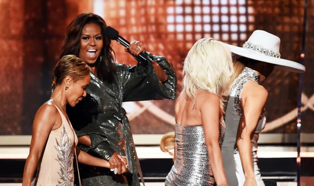 Michelle Obama's Grammy appearance fails to impress mother