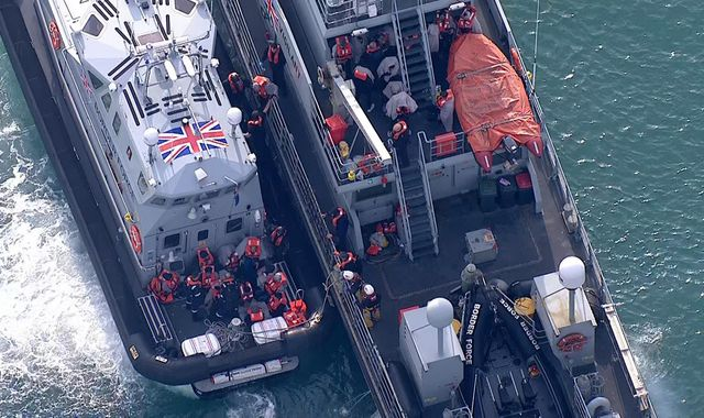 Dozens of migrants rescued from boat off Dover coast