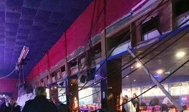 Several injured as ceiling collapses 'into bar area' at Pontins holiday park in Somerset