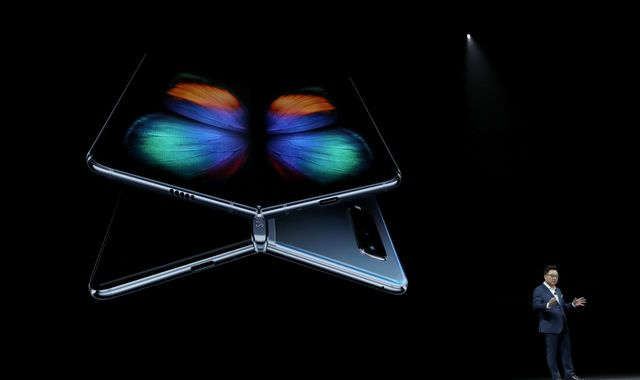 Samsung unveils foldable phone and 5G version of Galaxy
