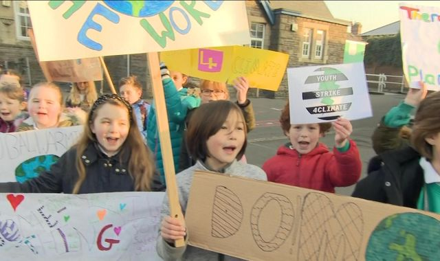 School children strike over 'lack of climate change action'