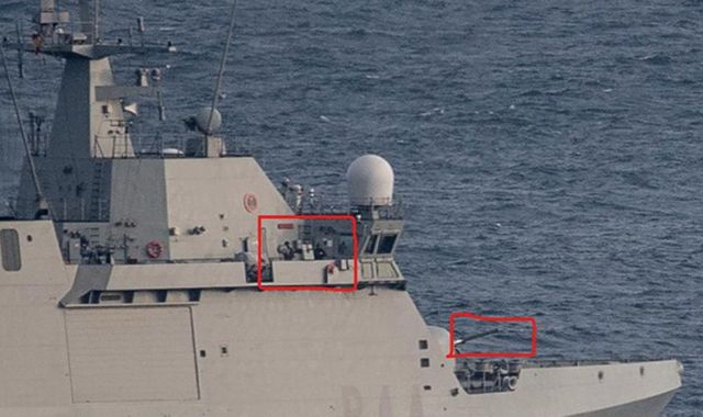 Spanish warship orders commercial ships to leave British Gibraltar waters