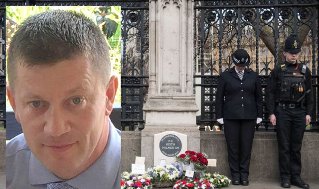 Memorial unveiled for 'true hero' PC Keith Palmer who died in Westminster terror attack